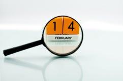 El 14 de febrero Imágenes de archivo libres de regalías