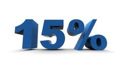 El 15% aislado Imagenes de archivo
