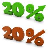 el 20 por ciento Foto de archivo libre de regalías