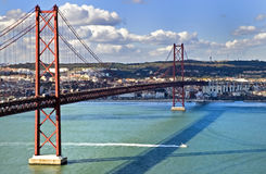 El 25to del puente de abril Imagen de archivo libre de regalías