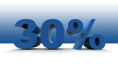 el 30% Imagen de archivo libre de regalías