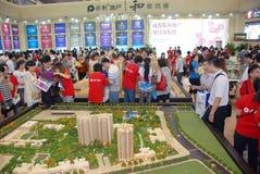 El 39.o resorte de las propiedades inmobiliarias justo en Chengdu Foto de archivo
