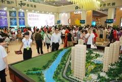 El 39.o resorte de las propiedades inmobiliarias justo en Chengdu Fotos de archivo libres de regalías
