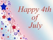el 4 de julio Imagen de archivo libre de regalías