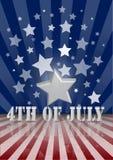 el 4 de julio Foto de archivo libre de regalías