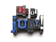 el 4 de julio Fotos de archivo