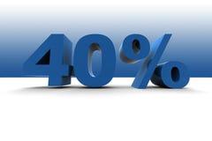 el 40% Foto de archivo libre de regalías