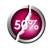 el 50% Foto de archivo libre de regalías
