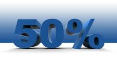 el 50% Imagen de archivo libre de regalías