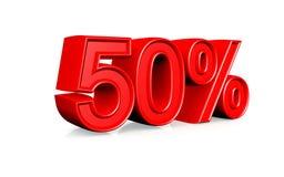 El 50 por ciento Fotografía de archivo libre de regalías