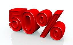 El 50 por ciento Foto de archivo