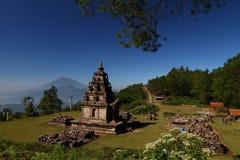 El 6to templo de Gedongsongo Imagen de archivo