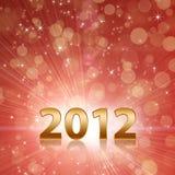 El año 2012 celebra el fondo abstracto rojo stock de ilustración