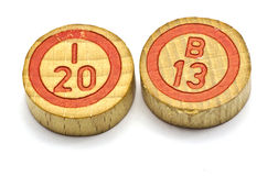 El año 2013 en tejas del bingo Imagen de archivo