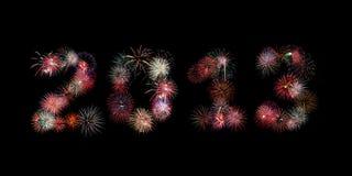 El año 2013 escrito en fuegos artificiales Imagen de archivo libre de regalías