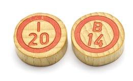 El año 2014 en tejas del bingo Foto de archivo