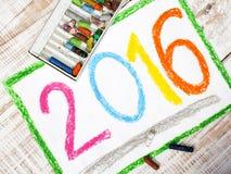 El año 2016 Imagen de archivo libre de regalías