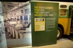 El año caminaron Montgomery Bus Boycott Exhibit dentro del museo nacional de las derechas civiles en Lorraine Motel Fotografía de archivo libre de regalías