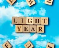 El año luz de la palabra Imágenes de archivo libres de regalías