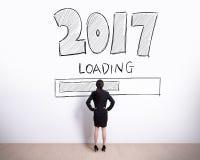 El Año Nuevo ahora está cargando Fotografía de archivo