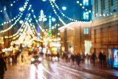 El Año Nuevo Boke enciende la decoración del árbol de navidad de Navidad y festivo Fotografía de archivo