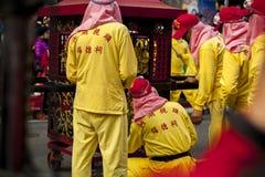 El Año Nuevo chino, el festival de linterna, aduanas populares taiwanesas, bendiciendo los rituales y los desfiles, frígidos esco Imagen de archivo