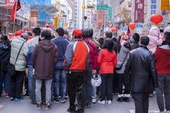 El Año Nuevo chino, el festival de linterna, aduanas populares taiwanesas, bendiciendo los rituales y los desfiles, frígidos esco Imagen de archivo libre de regalías
