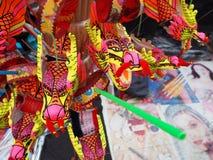 El Año Nuevo chino juega, primer del dragón del baile en la parte posterior festiva Fotografía de archivo
