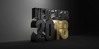 2018 el Año Nuevo 2018 3d rinde stock de ilustración