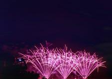 el Año Nuevo de los fuegos artificiales celebra - el aislador colorido hermoso del fuego artificial Imagen de archivo