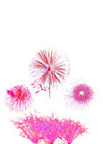 el Año Nuevo de los fuegos artificiales celebra - el aislador colorido hermoso del fuego artificial Foto de archivo libre de regalías