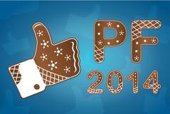El Año Nuevo desea 2014 stock de ilustración