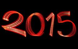 El Año Nuevo 2015 empañó luces rojas Fotos de archivo libres de regalías