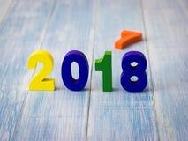 El Año Nuevo 2018 es concepto que viene Fotografía de archivo libre de regalías