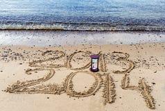 El Año Nuevo está viniendo, Mar Rojo, Eilat Imagen de archivo libre de regalías