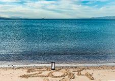 El Año Nuevo está viniendo, Mar Rojo, Eilat Fotografía de archivo