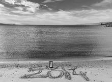 El Año Nuevo está viniendo, Mar Rojo, Eilat Imagenes de archivo