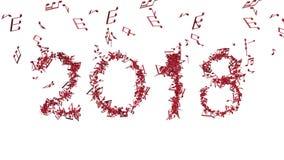 El Año Nuevo 2018 hizo de notas musicales stock de ilustración