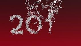 El Año Nuevo 2018 hizo de notas musicales ilustración del vector