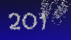 El Año Nuevo 2018 hizo de notas musicales libre illustration