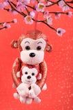 El Año Nuevo lunar chino adorna el juguete del mono Fotografía de archivo