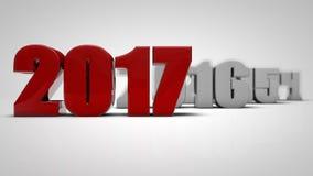 El Año Nuevo rojo 2017 3d rinde Libre Illustration