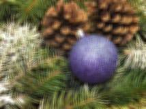 El Año Nuevo y los cristmas empañaron el fondo para el día de fiesta Fotos de archivo libres de regalías