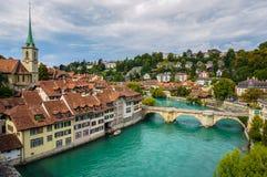 El Aare en Berna, Suiza Fotos de archivo libres de regalías