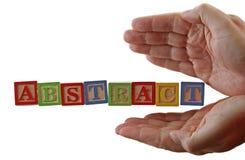 El ABC abstracto bloquea las manos Imagen de archivo libre de regalías