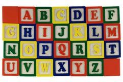 El ABC bloquea A-Z Imagenes de archivo