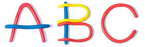 El ABC de los caracteres Fotos de archivo libres de regalías