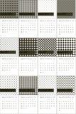 El abedul y los modelos geométricos coloreados de color topo hacen calendarios 2016 Ilustración del Vector