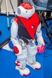 El abejón del robot que puede hablar y tiene cámaras de vídeo para los ojos Foto de archivo