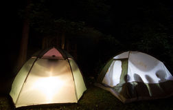 El acampar Fotos de archivo libres de regalías